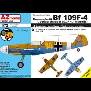 """AZ Model Messerschmitt Bf 109F-4 JG27 - """"Gelbe 14"""" H. J. Marseille - 1:72"""