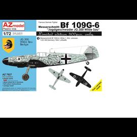 """AZ Model AZ Model - Messerschmitt Bf 109G-6 JG300 """"Wilde Sau"""" - 1:72"""