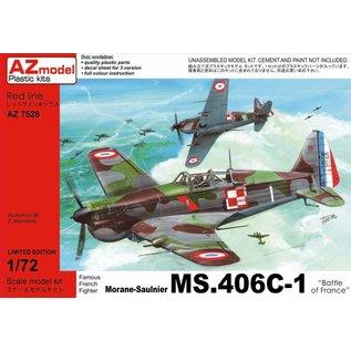 "AZ Model Morane-Saulnier MS.406C-1 ""Battle of France"" - 1:72"