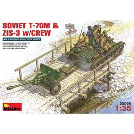 MiniArt MiniArt - Soviet T-70M & ZIS-3 w /Crew - 1:35