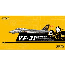 """Great Wall Hobby  G.W.H. - Grumman F-14D Tomcat VF-31 """"Sunset"""" Limited Edition - 1:72"""