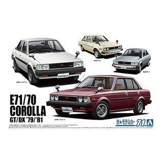 Aoshima Toyota E71/70 Corolla GT/DX '79/'81 - 1:24