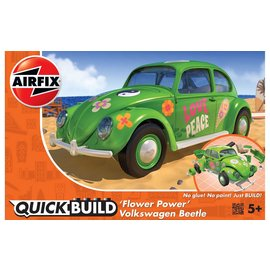Airfix Airfix - Quick Build - 'Flower Power' Volkswagen Beetle