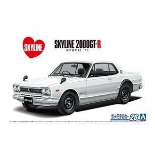 Aoshima Nissan KPGC110 Skyline HT2000 GT-R '71 - 1:24