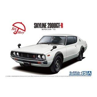 Aoshima Nissan KPGC110 Skyline HT2000 GT-R '73 - 1:24