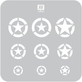 Vallejo Vallejo - Lackierschablone,US-Airforce Markierungen - 1:32, 1:48, 1:72
