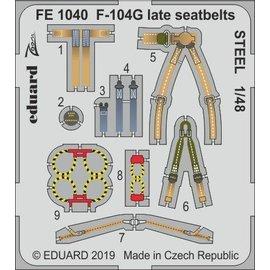 Eduard Eduard - PE-Set Gurtzeug F-104G Starfighter (late) f. Kinetic - 1:48
