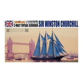 Aoshima Aoshima - Sir Winston Churchill - 3-Mast Topsail-Schooner - 1:350