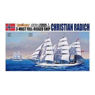 Aoshima Christian Radich - 3-Mast Full-Rigged Ship - 1:350