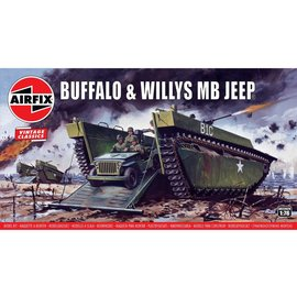 Airfix Airfix - Buffalo & Willys MB Jeep - Vintage Classic - 1:76