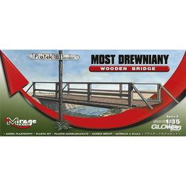 Mirage Hobby Mirage Hobby - Wooden Bridge / Holzbrücke mit Geländer - 1:35