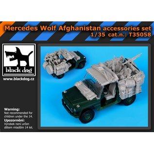 Black Dog Mercedes Wolf Afganistan accessories set - 1:35