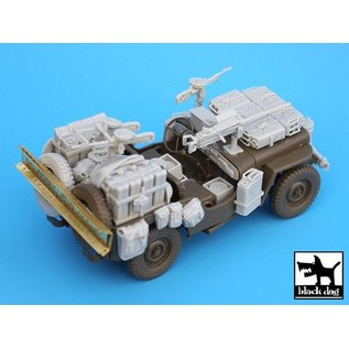 Black Dog British SAS Jeep north Africa 1942 - 1:35
