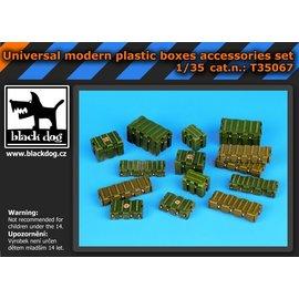 Black Dog Black Dog - Universal modern plastic boxes accessories set - 1:35