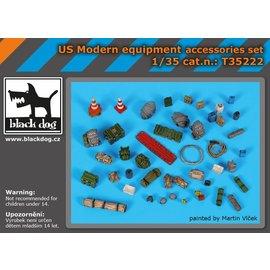 Black Dog Black Dog - US Modern equipment accessoris set - 1:35