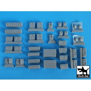 Black Dog British equipment accessories set - 1:35