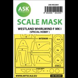 ArtScaleKit ASK - Lackiermasken f. Westland Whirlwind Mk. I (Special Hobby Bausatz) - 1:32