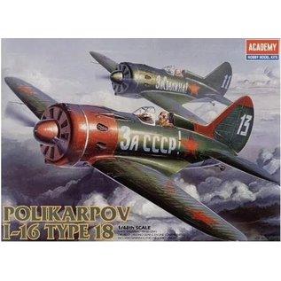 Academy Polikarpov I-16 Type 18 - 1:48