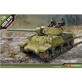 """Academy Academy - USSR M10 Tank Destroyer """"Lend-Lease"""" with 5 figures - 1:35"""
