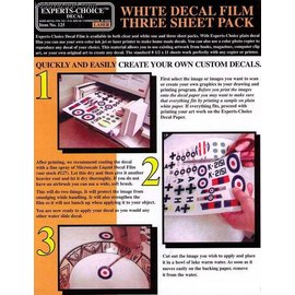 Bare Metal Foil Bare Metal Foil - Decal-Druckpapier f. Laserdrucker (3. Stck.) / White Decal Film for Laser Printer