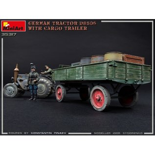 MiniArt German Tractor D8506 with Cargo Trailer - 1:35