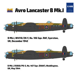 Hong Kong Models Avro Lancaster B MK.1 - 1:48