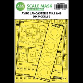 ArtScaleKit ASK - Lackiermasken Avro Lancaster Mk.I B / double-sided painting mask for HK Models