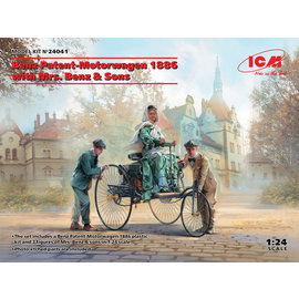 ICM ICM - Benz Patent-Motorwagen 1886 with Mrs. Benz & Sons - 1:24