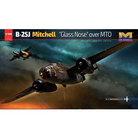 """Hong Kong Models HKM - North American Aviation B-25J Mitchell """"Glass Nose"""" over MTO - 1:32"""