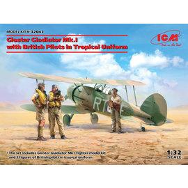 ICM ICM - Gloster Gladiator Mk.I with British Pilots in Tropical Uniform - 1:32