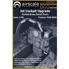 Airscale Airscale - Jet Cockpit Upgrade - Etched Brass - 1:48