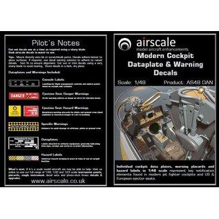 Airscale Modern Cockpit Dataplate & Warning Decals - 1:48