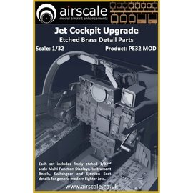 Airscale Airscale - Jet Cockpit Upgrade - Etched Brass - 1:32