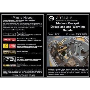 Airscale Modern Cockpit Dataplate & Warning Decals - 1:32