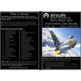 Airscale Airscale - Early Allied Jets Instrument Dial Decals - 1:32