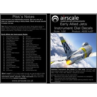 Airscale Early Allied Jets Instrument Dial Decals - 1:32