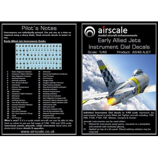 Airscale Early Allied Jets Instrument Dial Decals - 1:48