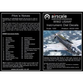 Airscale Airscale - WWII USAAF Instrument Dial Decals - 1:32