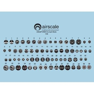 Airscale WWII USAAF Instrument Dial Decals - 1:32