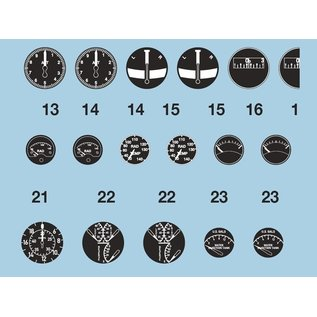 Airscale WWII USN/USMC Instrument Dial Decals - 1:32