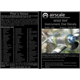 Airscale Airscale - WWII RAF Instrument Dial Decals - 1:32