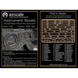 Airscale Airscale - PE Instrumentenrahmen / Etched Brass Instrument Bezels - 1:32