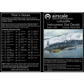 Airscale Airscale - WWII Luftwaffe Instrument Dial Decals - 1:32