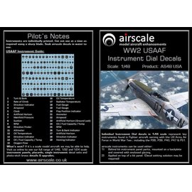 Airscale Airscale - WWII USAAF Instrument Dial Decals - 1:48