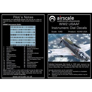 Airscale WWII USAAF Instrument Dial Decals - 1:48