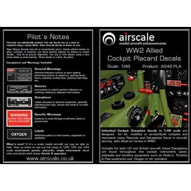 Airscale Airscale - WWII Allied Cockpit Placards - 1:48