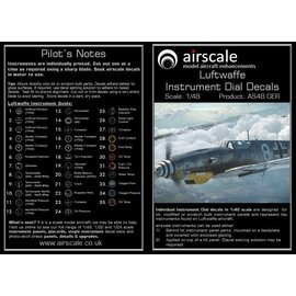 Airscale Airscale - WWII Luftwaffe Instrument Dial Decals - 1:48