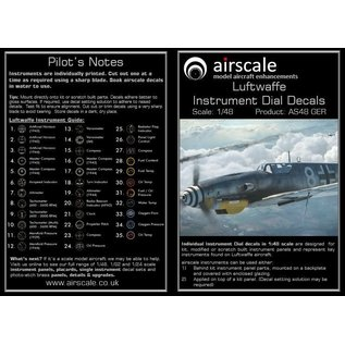Airscale WWII Luftwaffe Instrument Dial Decals - 1:48