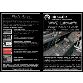 Airscale Airscale - WWII Luftwaffe Cockpit Placards - 1:48