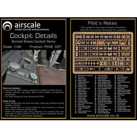 Airscale Airscale - PE Cockpit Details / Etched Brass Cockpit Parts - 1:48